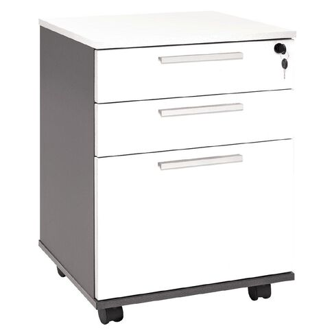 Jasper J Emerge Mobile 3 Drawer Ironstone White
