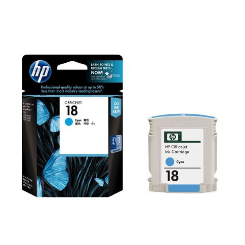 HP Ink 18 Cyan (860 Pages)
