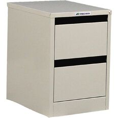Precision Classic Filing Cabinet 2 Drawer Oyster Grey