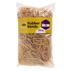 Marbig Rubber Bands 500g #16 Brown