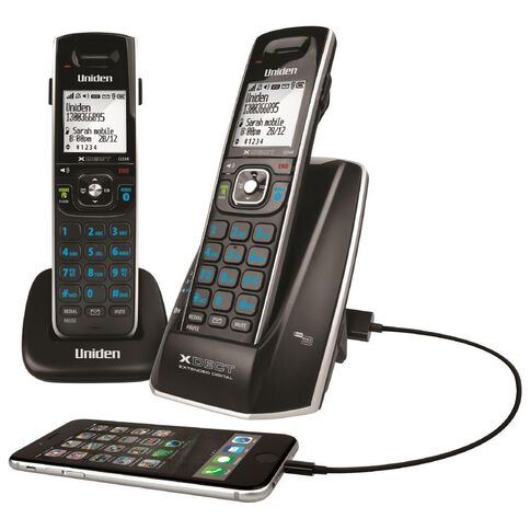 Uniden XDECT8315+1 Cordless Phone Twin Black