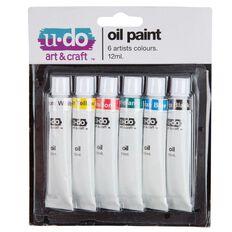 U-Do 12ml Oil Paint 6 Pack