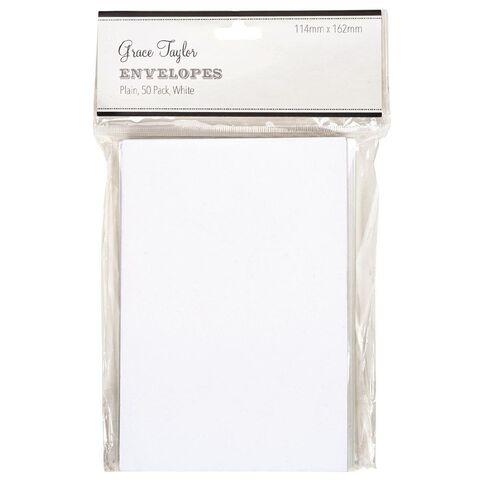 Grace Taylor Envelopes 50 Pack White