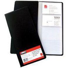 Marbig Business Card File 208 Cards Black Black