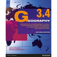 Ncea Year 13 Geography 3.4 Workbook