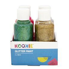 Kookie Acrylic Paint Glitter 120ml 4 Pack
