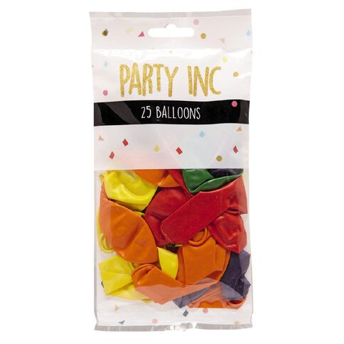 Party Inc Balloons Metallic Colours 25cm 25 Pack