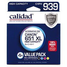 Calidad Canon PGI-651 Photo Blk Cyn Mag Yel 4 Pack