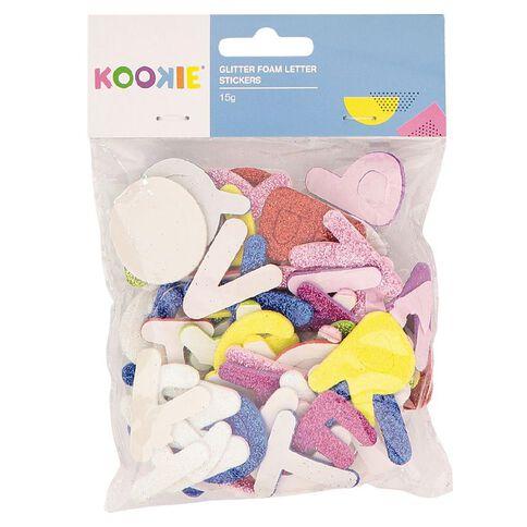 Kookie Glitter Foam Stickers Letter Multi-Coloured 15g