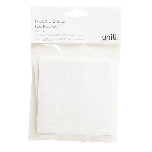 Uniti Adhesive Foam Multi Pack 3 Sheets