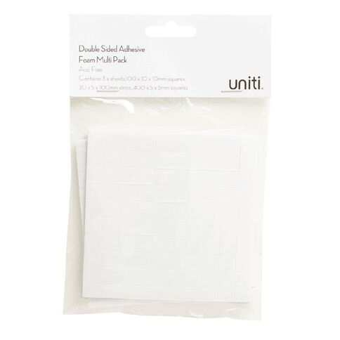 Uniti Adhesive Foam Multi Pack 3 Sheets