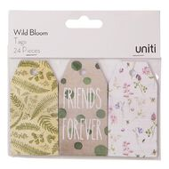 Uniti Wild Bloom Tags 24 Pieces