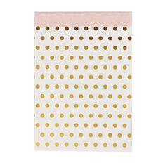 Uniti Kiwi Breeze Notepad With Fabric Binding Gold Foil White A6