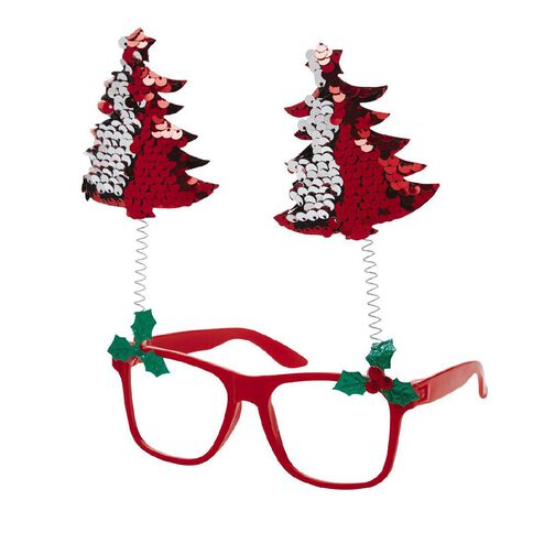 Frankly Funny Christmas Novelty Glasses Sequin Assorted