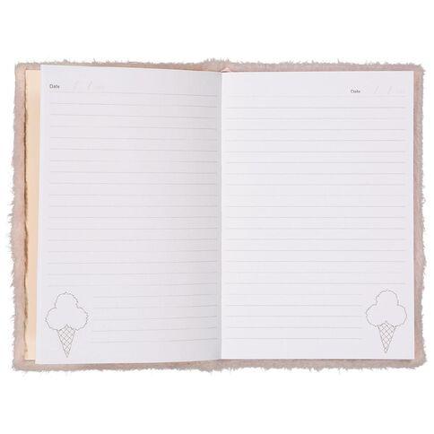Kookie Novelty Notebook Hardcover Pom Pom Ice Cream Pink