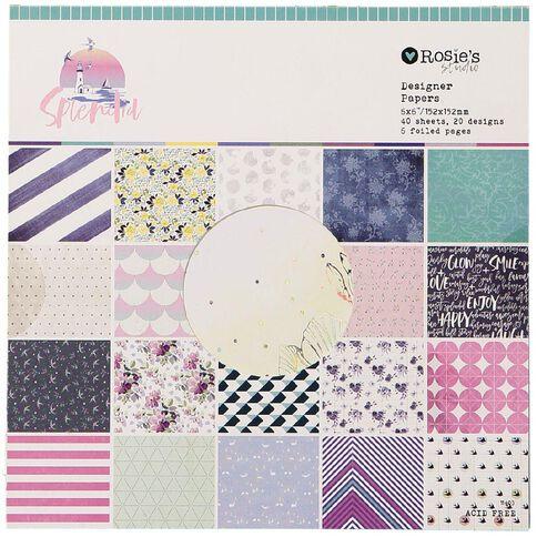 Rosie's Studio Splendid Designer Paper Pad 40 sheet 6in x 6in