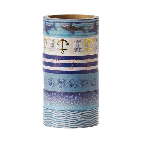 Uniti Washi Tape 6 Pack Oceania
