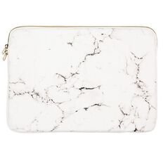14 inch Notebook Sleeve Midas Touch White Marble