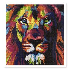 Uniti Crystal Art 30cm x 40cm Lion