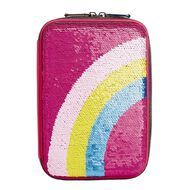 Kookie Bright Pencil Case Hard Top Rainbow Pink