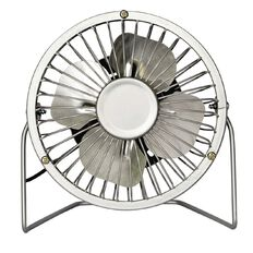 Living & Co USB Desk Fan Chrome Look