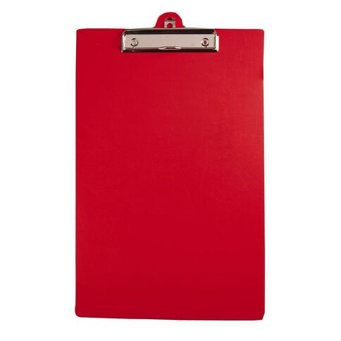 GBP Stationery Foolscap Pvc Single Clipboard Red