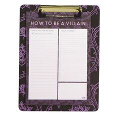 Disney Villains Clipboard With Notepad
