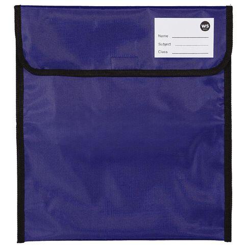 WS Book Bag Zipper Pocket 36cm x 33cm Blue