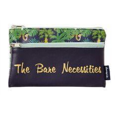 Disney Jungle Book Double Zip Pencil Case Navy