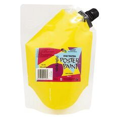 Fivestar Tempera Poster Paint Yellow 1.5 litre Pouch