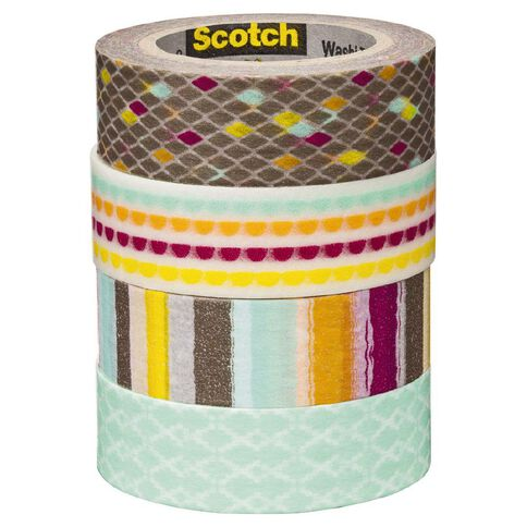 Scotch Washi Craft Tape Multipack Diamonds & Lines