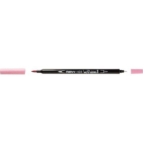 MARVY Le Plume II Dual Tip Marker Bubblegum Pink
