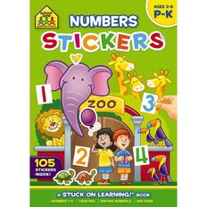 School Zone: Get Ready Sticker Books Numbers