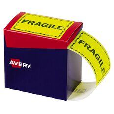 Avery Fragile Labels Fluoro Yellow 750 Labels