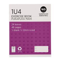 WS Exercise Book 1U4 12mm Ruled 24 Leaf Purple