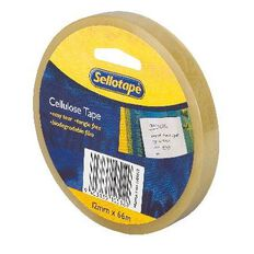 Sellotape Cellulose Tape 12mm x 66m Clear