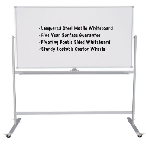 Boyd Visuals Lacquered Mobile board 1200 x 1800mm White