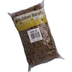 Marbig Rubber Bands 500g #32 Brown