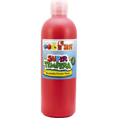 FAS Paint Super Tempera 250ml Bril Red