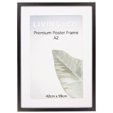 Living & Co Premium Poster Range Black A2