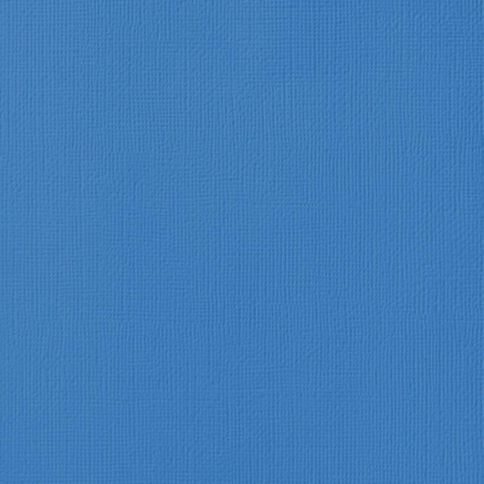 American Crafts Cardstock Textured Wave Blue 12in x 12in