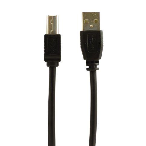 H+O Printer Cable USB 2.0 A To B 1.5m Black