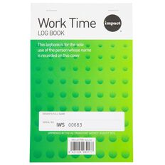 Impact Work Time Log Book Green