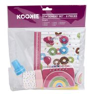 Kookie Bright Stationery Set Pink