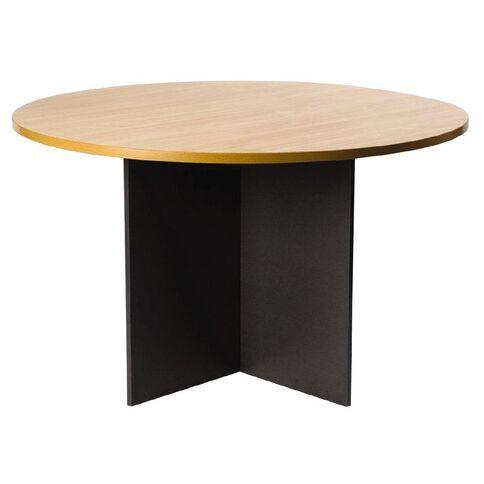 Firstline Round Meeting Table 1200 Beech/Ironstone