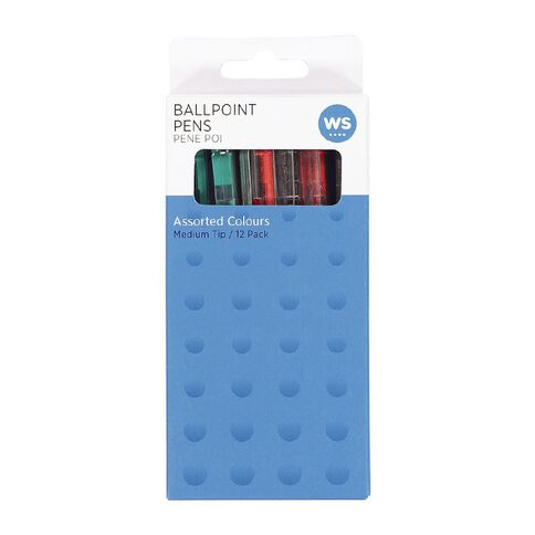WS Ball Pens Sprint Grip Assorted 12 Pack