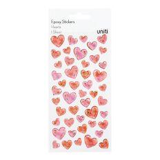 Uniti Epoxy Stickers Hearts