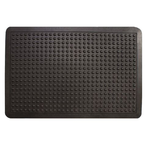 Rubber Bubble Mat 60 x 90cm Black