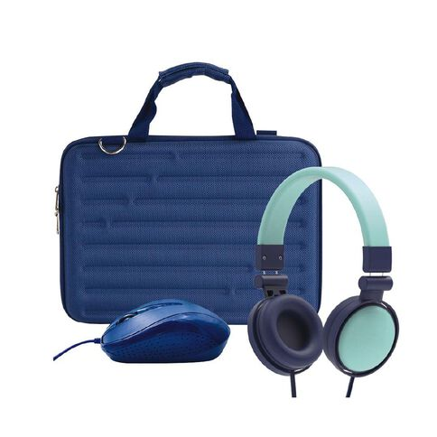 14inch  Hard Shell Bundle with Mouse and Headphones Blue