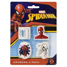 Spider-Man Erasers 4 Pack